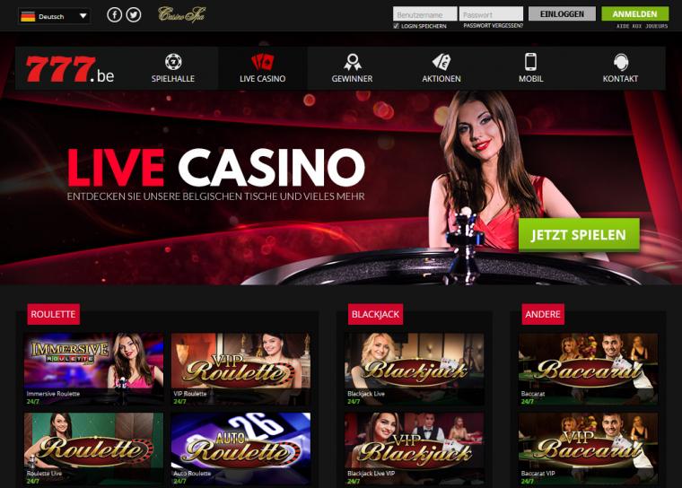 777 Casino Spielangebot