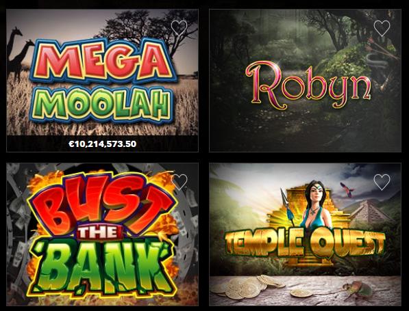 Betway Casino Spielangebot