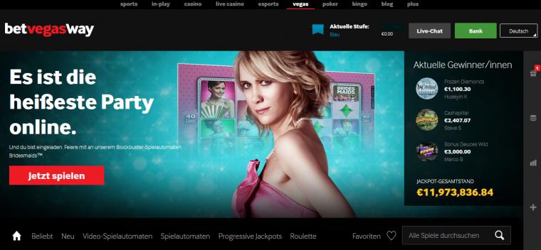 Betway Casino Webauftritt