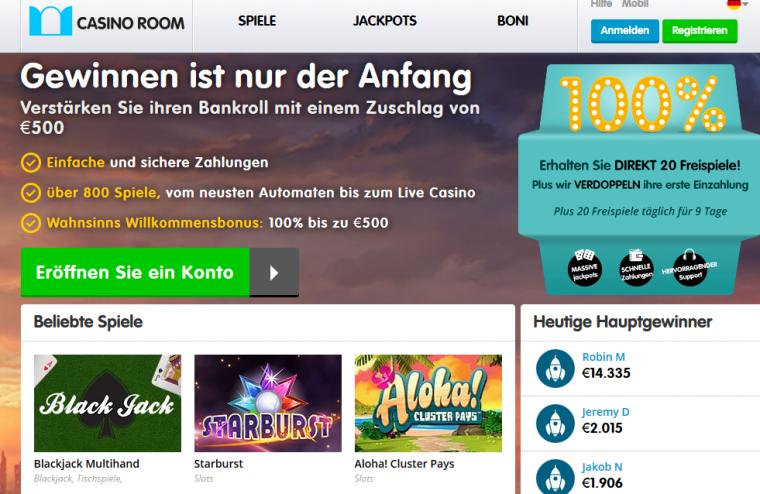 Casino Room Webauftritt
