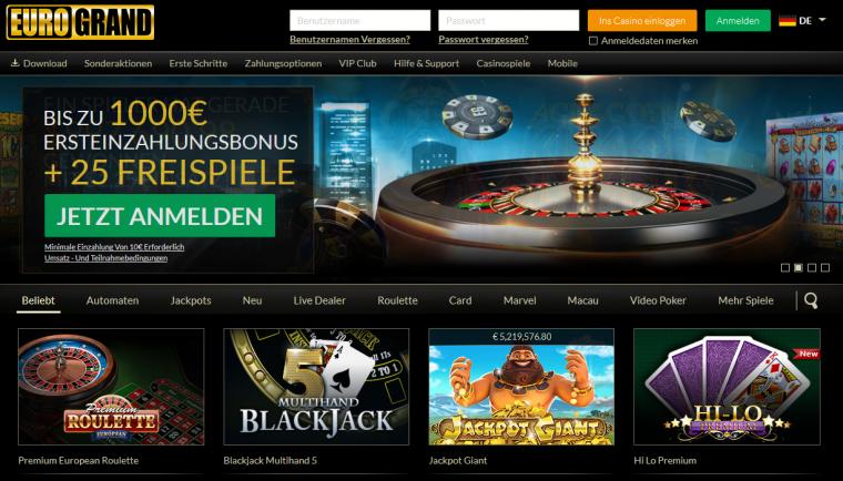 EuroGrand Webauftritt