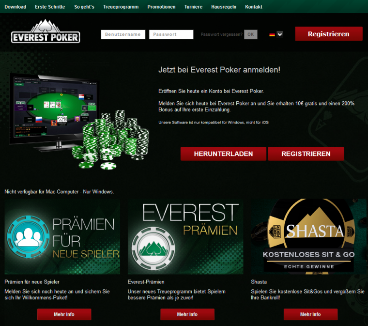 Everest Poker Pokersoftware