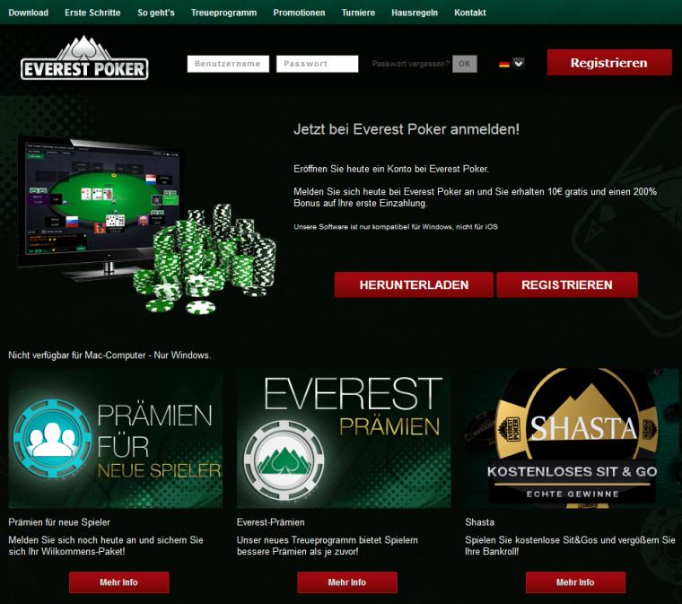 Everest Poker Pokersoftware