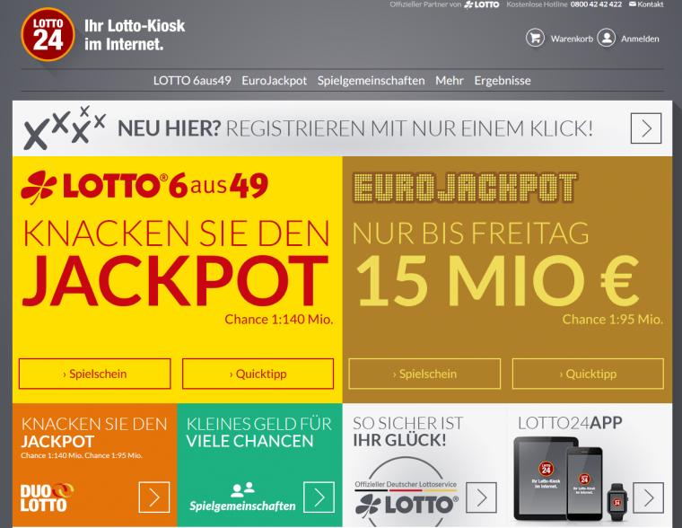 Lotto24 Webauftritt