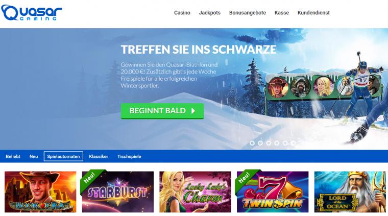 Quasar Gaming Webauftritt