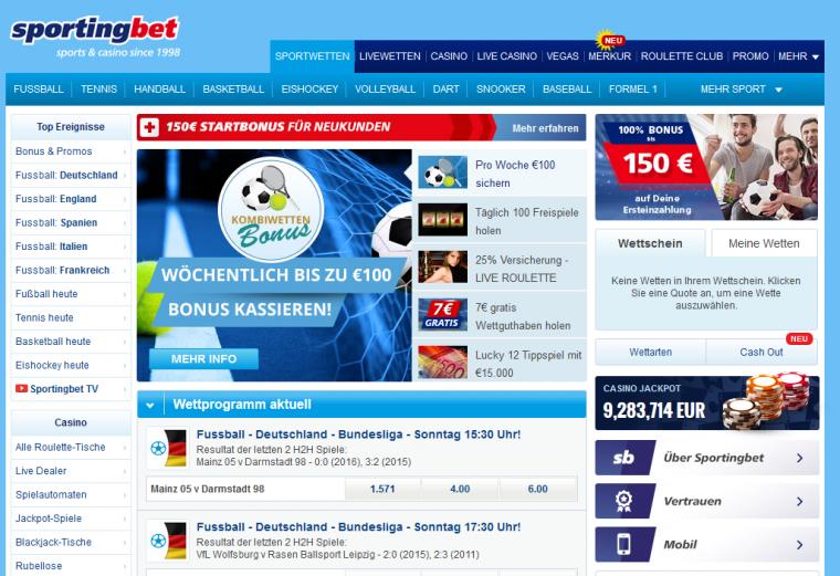 Sportingbet Wettportal