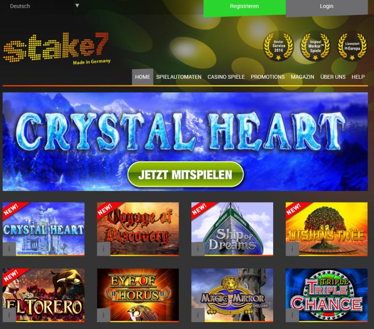Stake7 Webauftritt