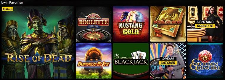 bwin Casino Spielangebot