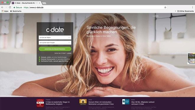 C-Date Webauftritt
