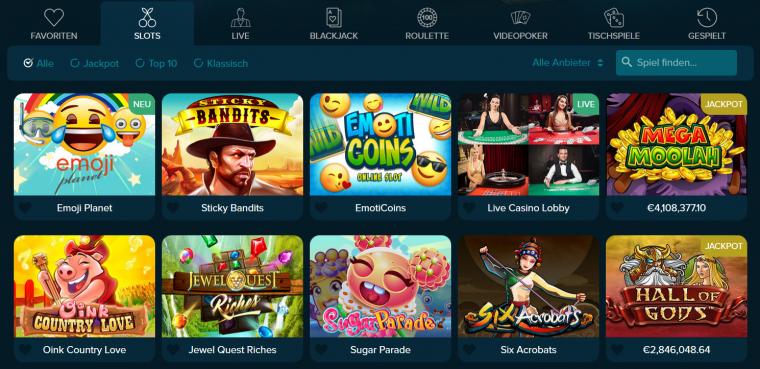 Casinoland Spielangebot