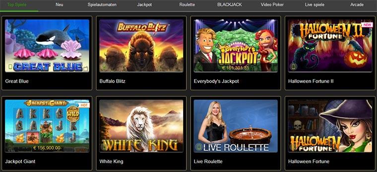 Casino Tropez Spielangebot