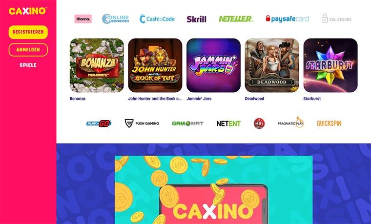 Caxino Webauftritt