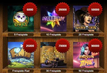 ComeOn Casino Points