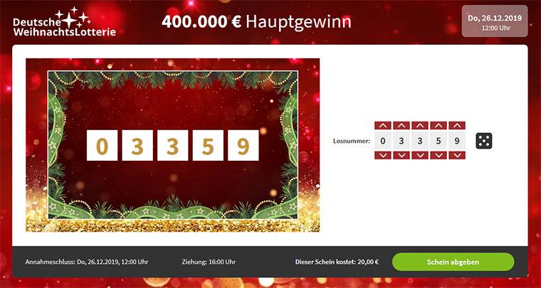 Deutsche Weihnachtslotterie Los