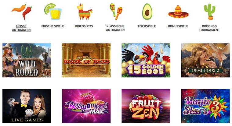 La Fiesta Casino Spielangebot