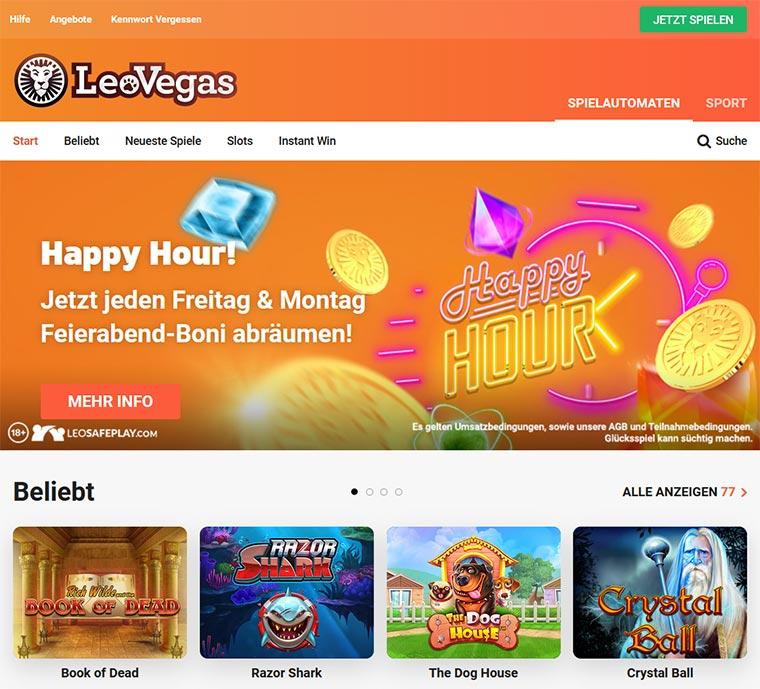 LeoVegas Webauftritt
