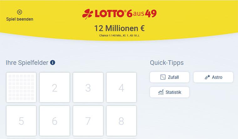 Lotto.de Spielschein