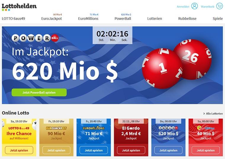 Lottohelden Webauftritt