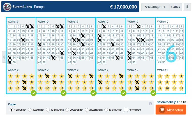LottoKings Tippschein