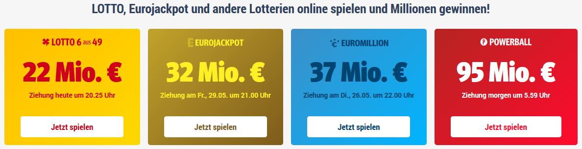 LottoStar24 Spielangebot