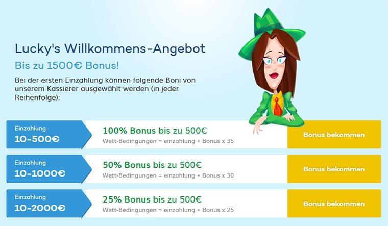 LuckyCasino Bonus