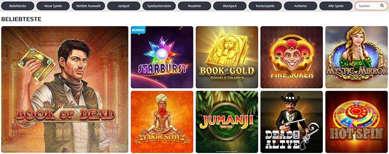 NetBet Casino Spielangebot