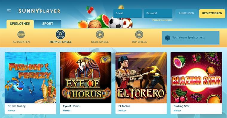 Sunnyplayer Webauftritt